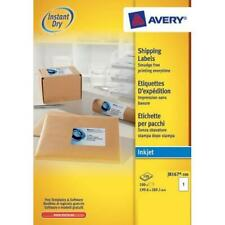 J8167 Avery Quick DRY Addressing Labels x100 Inkjet 1 per Sheet 199.6x289.1mm Wh