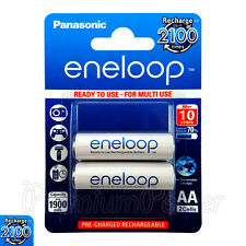 2 x Panasonic Eneloop AA batteries 1900mAh Rechargeable Ni-MH Accu LR06 BK-3MCCE