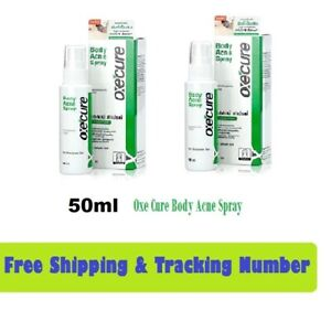 2 x 50ml Oxe Cure Body Acne Lotion Spray Reduce Pimple Back Neck Chest Treatment