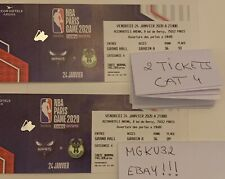 NBA Paris Game 2 billets Cat4 Milwaukee vs Hornets