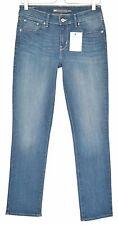 Ladies Womens Levis STRAIGHT LEG Demi Curve Blue Jeans Size 10 W28 L32