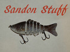 Big Fish Swimbait Medium Sized Lure Silver Fish Colour 100mm Pike perch zander