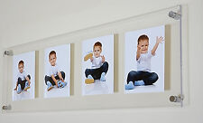 """Cheshire Acrylic multi  picture photo frame  8 x 6"""" / 9 x 6 / 9 x 7"""" all colors"""