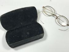 Antique Eyeglasses w/ Case gold? xxx GO Co.