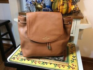 Kate Spade New York Mulberry Street Breezy Genuine Leather Backpack Purse Bag