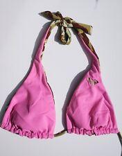 Vintage Roxy Pink & Camo Reversible Swimsuit Top