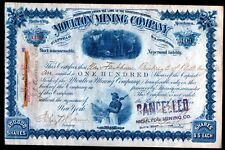 1891 William A Clark - The Copper King - U S Senator - Moulton Mining Co signed