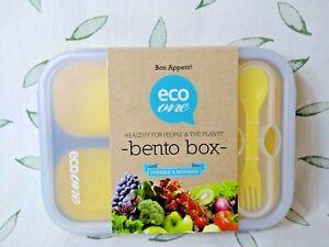 Eco One Durable Reuseable Collapsable Bento Box Yellow