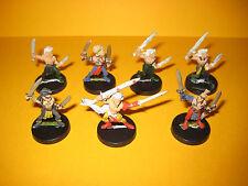 Waldelfen - Wood Elves - 7x metal Wardancers - Kampftänzer aus Metall I