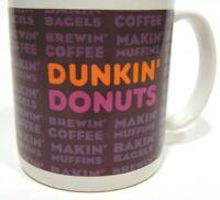 DUNKIN DONUTS Coffee Cup Mug DD Vintage Out Of Print Tea Ceramic Brewin Gift