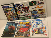 Lot 6 Wii Family Games Brave Wii Play Monster 4x4 UDraw Studio Outdoor Challenge