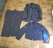 Old Vtg Military Air Force Uniform LOT Cap Coats Neck Tie Patches Duffel