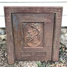 Ornate Cast Iron Summer Cover & Fireplace Surround Wl Sharp & Son 1880 Victorian
