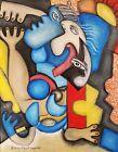 Beach Party Cubism 8 x 10 Print Cubist Pop Art Signed by Artist KSams Abstract