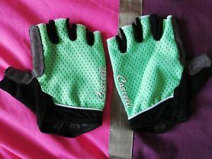 Castelli Womens Fingerless Cycling Gloves Green Summer Size Large Run Small