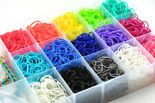 LOT OF 8 BAGS OF RAINBOW LOOM BANDS 600+ C-clips