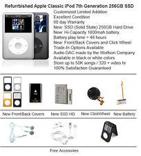 256GB SSD Custom Refurb Apple iPod Classic 7th Gen Mint Condition Multi Color