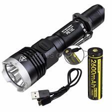 NITECORE P16TAC 1000 Lumen Flashlight & 1x2600mAh 18650 USB Rechargeable Battery