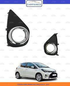 TOYOTA YARIS FRONT BUMPER FOG GRILLE 2014 - 2017 RIGHT DRIVERSIDE WITH CHROME