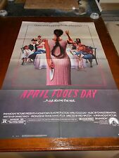 APRIL FOOL'S DAY (1986) DEBORAH FOREMAN ORIGINAL ONE SHEET POSTER UNUSED