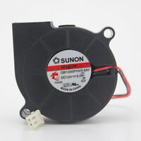 1PC SUNON GB1205PHVX-8AY GN 12V 2.0W 5cm 5015 machine blower cooling fan