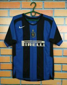 Inter Milan Jersey 2004 2005 Home Kids Boys 12-13 Shirt Soccer Football Nike