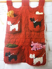 Knitting Pattern- Doggie Storage Wall Hanging Ideal For Dog Lead And  Oddments