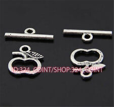 P444 15sets Tibetan Silver Toggle Clasps For Necklace Bracelet Clasp accessories