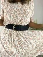 Designer White Puff Pleated Short Floral Dress AVAIL Size S M L UK 8 10 12 14