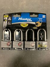 Master Lock Safety Home Security Laminated Stainless Steel Keyed Padlock Shackle