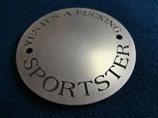 Harley Sportster Fuxxking point cover brass