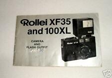 Rollei XF35 & 100XL Orig. Instruction Manual in English