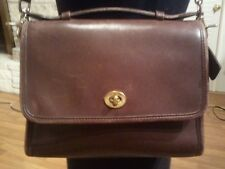 Coach Brown Leather Classic Court Purse Bag Handbag Handle and Shoulder Strap