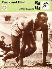 JESSE OWENS 1936 GOLD MEDAL 1936 BERLIN OLYMPICS 1977 FOCUS ON SPORTS CARD