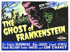The Ghost of Frankenstein - Lon Chaney Jr - A4 Laminated Mini Poster