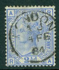 SG 157 2 1/2 D PIASTRA Blu 17. USATA in perfetta condizione con un CD di Londra, 4th FEBBRAIO 1884