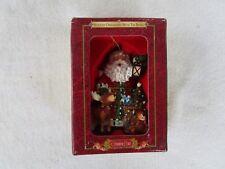 """NEW!~Grandeur Noel Holiday [Ornament with Tin Gift Box] """"SANTA"""""""