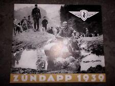 1939 ZÜNDAPP NÜRNBERG KS 600 K 500 DS 350 DBK 250 DB 200 24 SEITEN PREISLISTE