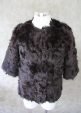 STEFANEL Felljacke Gr DE 38 I 42 Braun Damen Jacke Leather Fur Fell Jacke braun