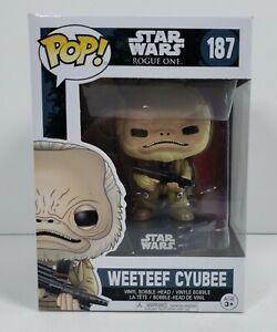 (DAMAGED BOX) Funko POP! Weeteef Cyubee #187 Star Wars Rogue One Vinyl Figure