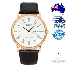 ORIENT Capital Ver 2 FUG1R006W6 White Dial Black Leather Mens Watch