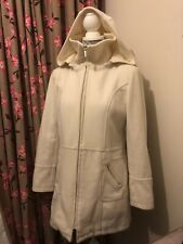 White Wool Mix Coat Size 12 By New Look