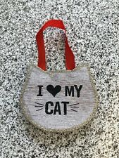 (I 🖤 My Cat) Christmas Ornament, Cat Face Shape, Brand New In Package