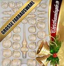 "39 tlg. Glas-Weihnachtskugeln Christbaumkugeln Set ""Ice Champagner Silber"" Komet"