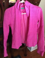 Pink Bubble Jacket By Benetton Ladies Sz 38