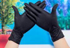 100* 5mil Black Nitrile Exam Gloves Powder-Free (Latex Vinyl Free) Size: Large