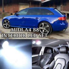 AUDI A4 B8 WHITE INTERIOR COMPLETE UPGRADE ERROR FREE LED LIGHT SET KIT