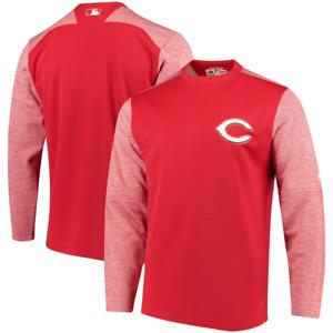 Cincinnati Reds Men's Sweatshirt MLB Majestic Tech Fleece Sweatshirt - New