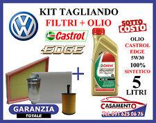 KIT TAGLIANDO OLIO MOTORE CASTROL EDGE 5W30 5LT + FILTRI VW POLO IV 1.4 TDI