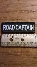 "BIKER CLUB PATCH ""ROAD CAPTAIN"" NEW NICE"